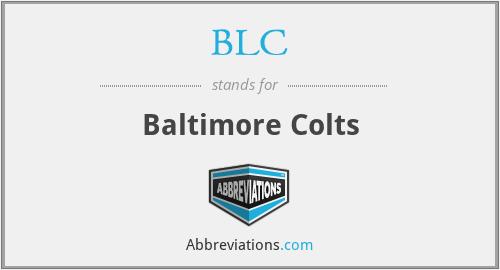 BLC - Baltimore Colts
