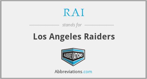 RAI - Los Angeles Raiders