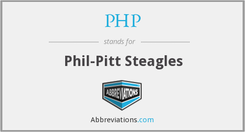 PHP - Phil-Pitt Steagles