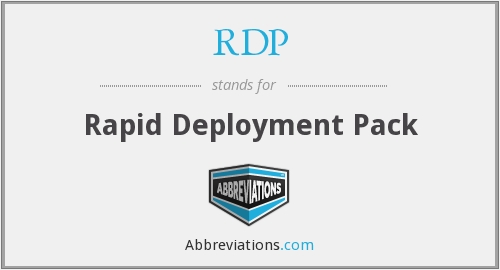 RDP - Rapid Deployment Pack