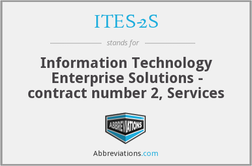ITES-2S - Information Technology Enterprise Solutions - contract number 2, Services
