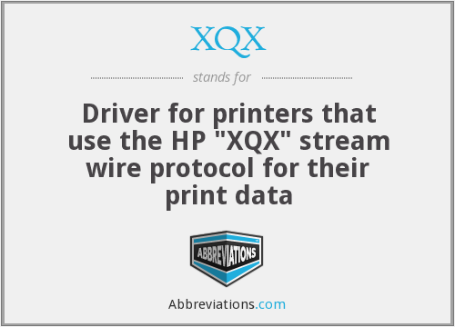 XQX - Driver for printers that use the HP
