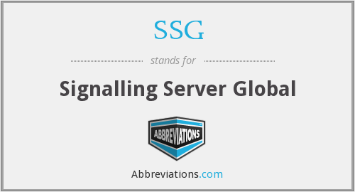 SSG - Signalling Server Global