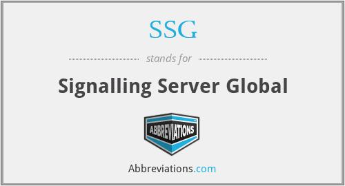 SSG - Signalling Server Global