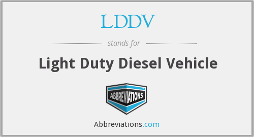 What does LDDV stand for?