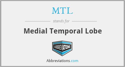 MTL - Medial Temporal Lobe