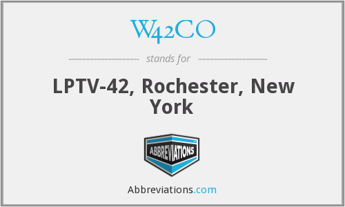W42CO - LPTV-42, Rochester, New York