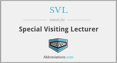 SVL - Special Visiting Lecturer