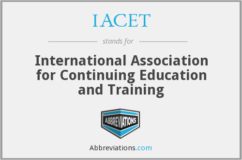 What does IACET stand for?
