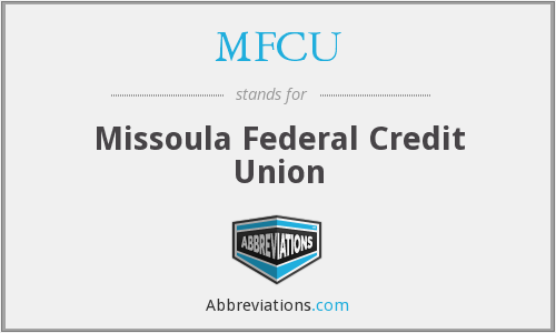 What does MFCU stand for?