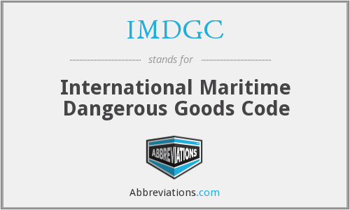 IMDGC - International Maritime Dangerous Goods Code