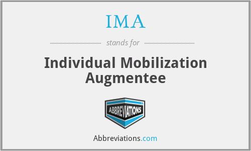 IMA - Individual Mobilization Augmentee