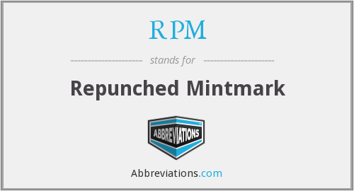 RPM - Repunched Mintmark