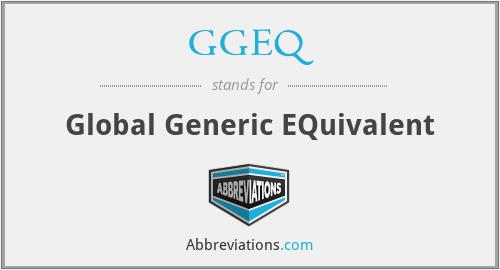 GGEQ - Global Generic EQuivalent