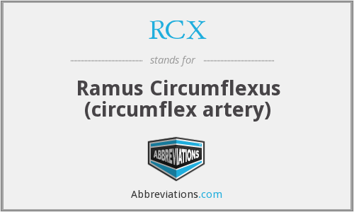 RCX - Ramus Circumflexus (circumflex artery)