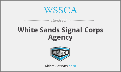 WSSCA - White Sands Signal Corps Agency