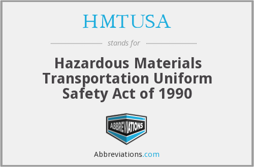 What does HMTUSA stand for?