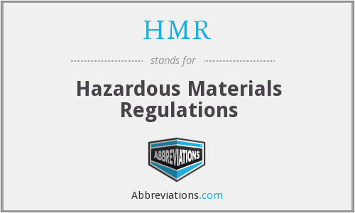 HMR - Hazardous Materials Regulations