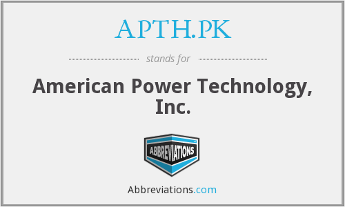 What does APTH.PK stand for?