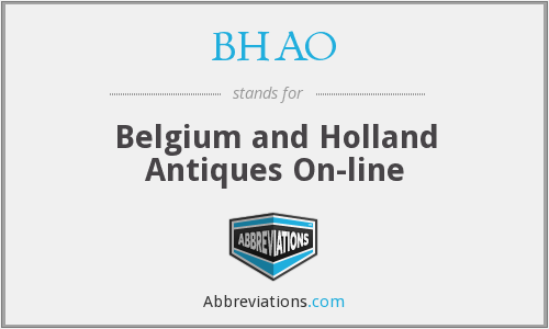 BHAO - Belgium and Holland Antiques On-line
