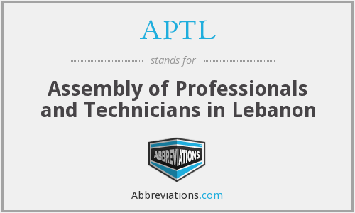 APTL - Assembly of Professionals and Technicians in Lebanon