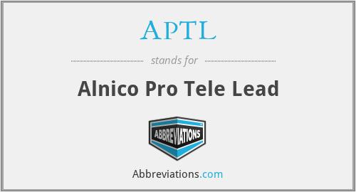 APTL - Alnico Pro Tele Lead