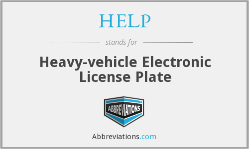 HELP - Heavy-vehicle Electronic License Plate