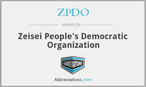ZPDO - Zeisei People's Democratic Organization