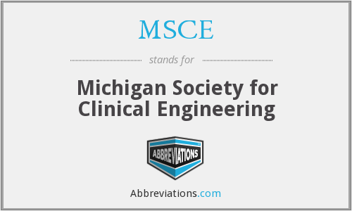 MSCE - Michigan Society for Clinical Engineering
