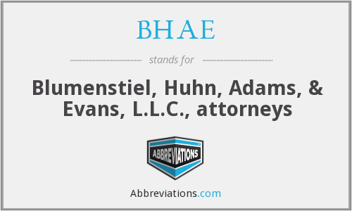 What does BHAE stand for?
