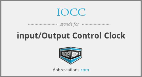 IOCC - input/Output Control Clock