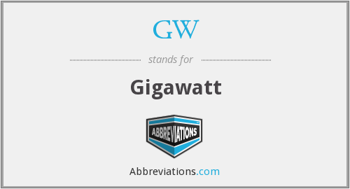GW - Gigawatt