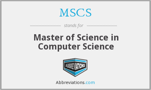 MSCS - Master of Science in Computer Science