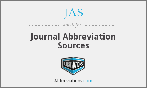 JAS - Journal Abbreviation Sources
