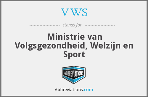 VWS - Ministrie van Volgsgezondheid, Welzijn en Sport