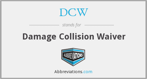 DCW - Damage Collision Waiver
