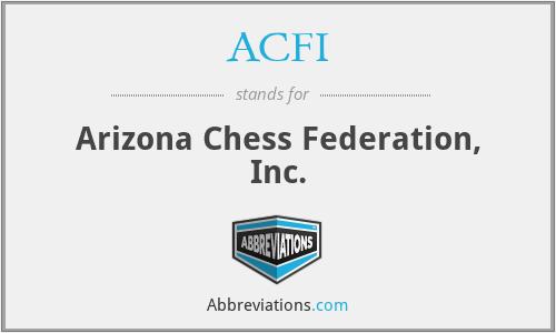 ACFI - Arizona Chess Federation, Inc.