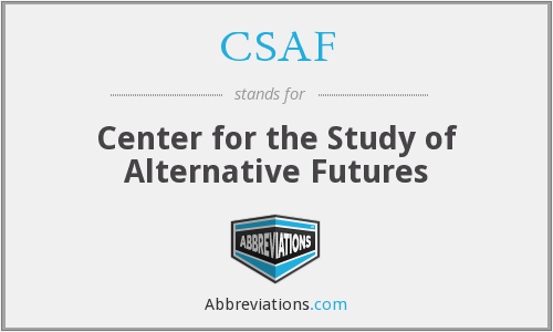 CSAF - Center for the Study of Alternative Futures