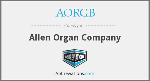What does AORGB stand for?