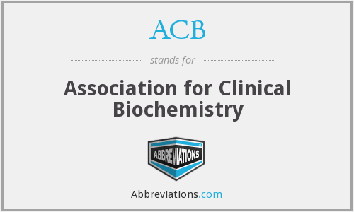ACB - Association for Clinical Biochemistry