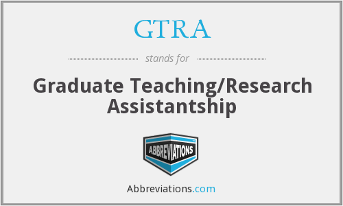 GTRA - Graduate Teaching/Research Assistantship