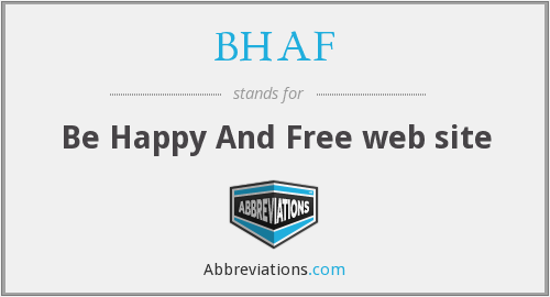 BHAF - Be Happy And Free web site