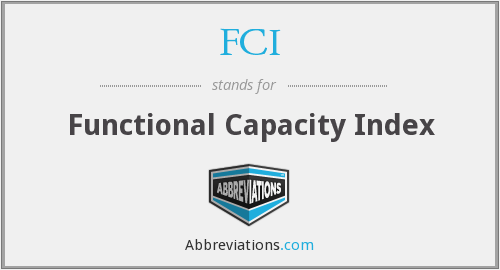 FCI - Functional Capacity Index