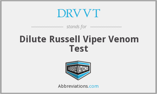 What does DRVVT stand for?