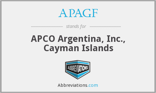 APAGF - APCO Argentina, Inc., Cayman Islands