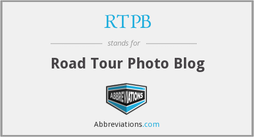 RTPB - Road Tour Photo Blog