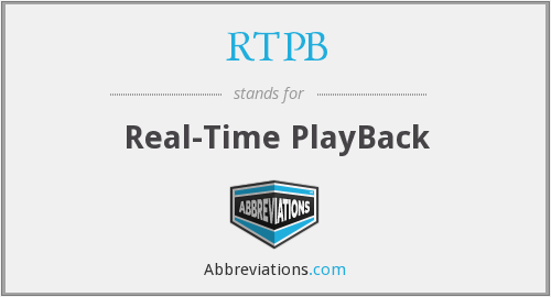 RTPB - Real-Time PlayBack
