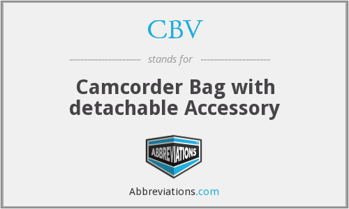 CBV - Camcorder Bag with detachable Accessory