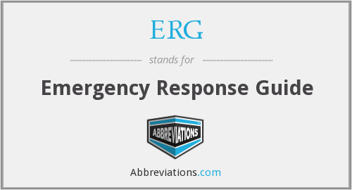 ERG - Emergency Response Guide