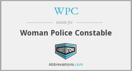 WPC - Woman Police Constable